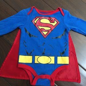 2 Items Batman and Superman Infant Baby Toddler Cape Socks Bundle 0-12 Months
